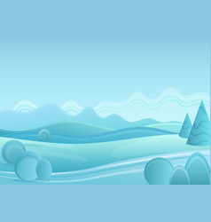 winter fantasy forest landscape with vector image