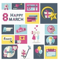 Women Day clip art set vector image