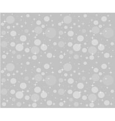 Christmas snowfall on the background of grey sky vector image vector image