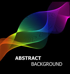 colourful abstract lines wave background vector image vector image