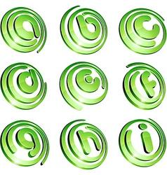 Green vibrant logo set vector