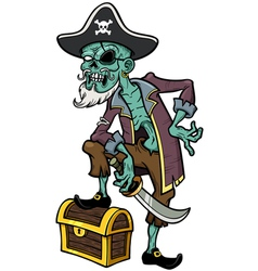 Pirate zombie vector image