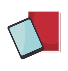 tablet and notebook vector image vector image