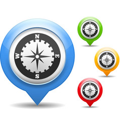 Compass Icon vector image vector image