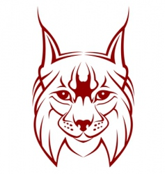 lynx mascot vector image vector image