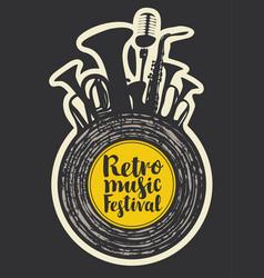poster for the retro music festival vector image