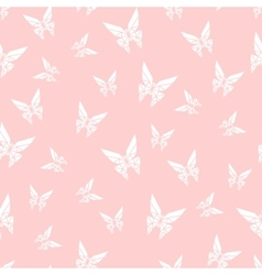 seamless pattern paper origami butterfly vector image vector image