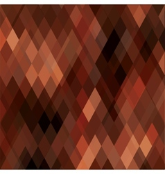 Square Brown Mosaic Background vector image vector image