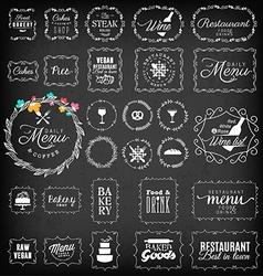 Vintage Restaurant Menu and Bakery Frame Set vector image