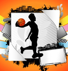 abstract basket summer frame vector image