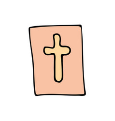 bible cartoon hand drawn icon vector image vector image