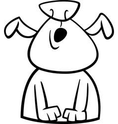 dog howls cartoon coloring page vector image