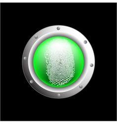 fingerprint button vector image vector image