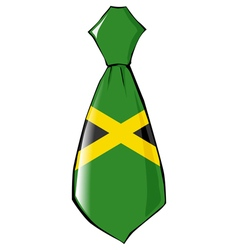 Necktie in national colours of jamaica vector