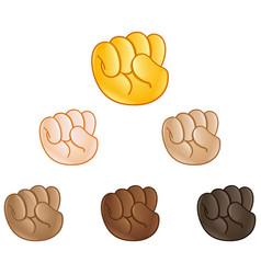 raised fist hand emoji vector image vector image