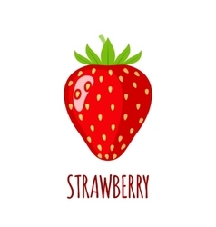 Strawberry icon in flat style on white background vector image vector image
