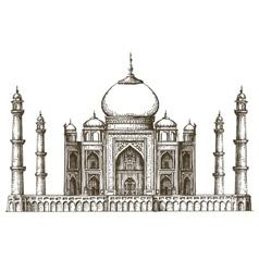 Taj Mahal logo design template India or vector image vector image