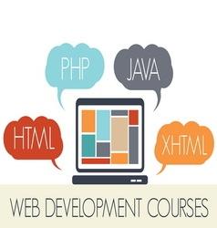 web design programi2 resize vector image vector image