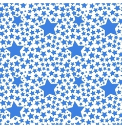 Blue stars on white seamless pattern vector image