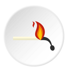 burning match icon circle vector image