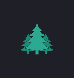 chritmas spruce computer symbol vector image vector image