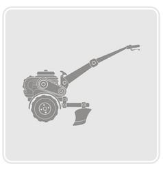 color icon with farm tractor vector image