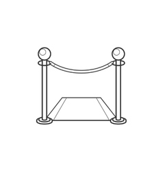 Fence with carpet line icon vector image