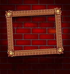 Frame on the brick wall vector image vector image