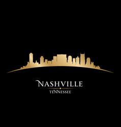 Nashville Tennessee city skyline silhouette vector image
