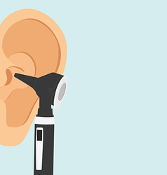 Otoscope and ear vector image vector image