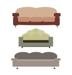 Sofas Set Flat vector image vector image