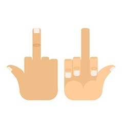 You Sign Obscene gesture to off Hand vector image