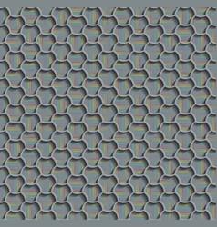 3d seamless web hexagon pattern gray tile vector image