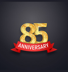 85 th anniversary logo template eighty-five years vector