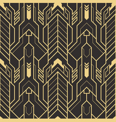 Abstract art deco seamless pattern vector