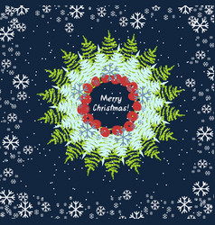 abstract christmas round design vector image
