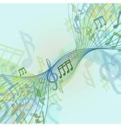 Abstract conceptual classic musical background vector image