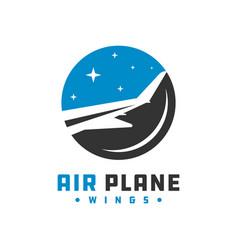aircraft wing logo vector image