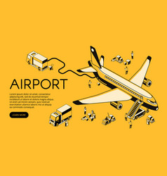 Airplane in airport halftone vector