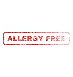 Allergy free rubber stamp vector