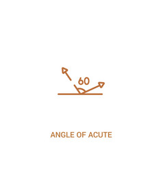 Angle acute concept 2 colored icon simple line vector