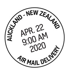 Auckland new zealand mail delivery stamp vector