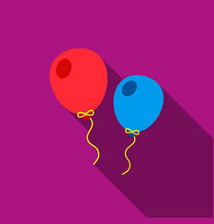 Balloon flate icon for web and vector
