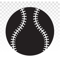Baseball ball flat icon for sport apps or website vector