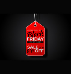 black friday sale tag vector image