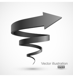 Black spiral arrow vector image