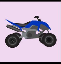Blue off road quad vector