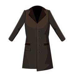 Brown winter coat icon cartoon style vector image