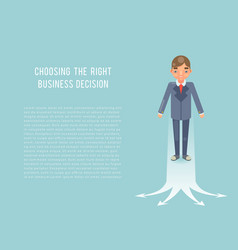 Business strategies concept businessman selecting vector