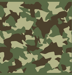 Camouflage seamless pattern green brown olive vector